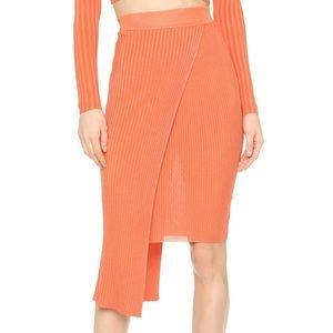 Ronny Kobo NWT orange sol rib wrap skirt ☀️
